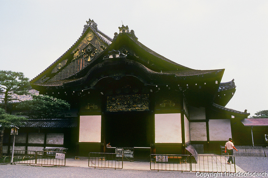 Kyoto: Ninomaru Palace--entrance, Nijo Castle. Photo '81.