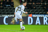 Connor Roberts of Swansea City does a back heel pass during the Sky Bet Championship match between Swansea City and Charlton Athletic at the Liberty Stadium in Swansea, Wales, UK.  Thursday 02 January 2020
