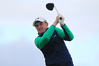 Ronan Mullarney from Ireland on the 5th tee during Round 3 Singles of the Men's Home Internationals 2018 at Conwy Golf Club, Conwy, Wales on Friday 14th September 2018.<br /> Picture: Thos Caffrey / Golffile<br /> <br /> All photo usage must carry mandatory copyright credit (&copy; Golffile | Thos Caffrey)