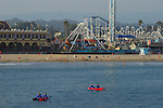 Kayaks and Beach Boardwalk