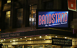 Theatre Marquee for the Broadway Opening Night Curtain Call Bows of 'Bandstand' at the Bernard B. Jacobs Theatre on 4/26/2017 in New York City.