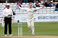 Simon Harmer in bowling action for Essex during Essex CCC vs Middlesex CCC, Specsavers County Championship Division 1 Cricket at The Cloudfm County Ground on 29th June 2017