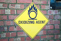 Oxidising sign on farm building