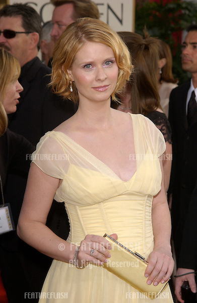 CYNTHIA NIXON at the Golden Globe Awards at the Beverly Hills Hilton Hotel..19JAN2003...© Paul Smith / Featureflash