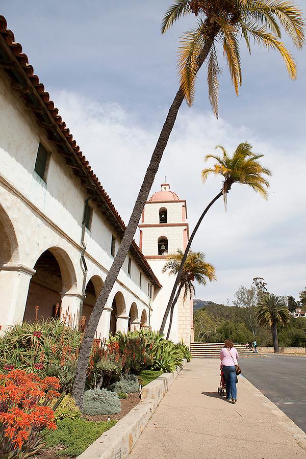 Santa Barbara Mission, Santa Barbara, CA, California, USA