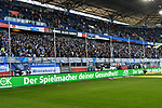 10.04.2019, Schauinsland-Reisen-Arena, Duisburg, GER, 2. FBL, MSV Duisburg vs. 1. FC Koeln,<br />  <br /> DFL regulations prohibit any use of photographs as image sequences and/or quasi-video<br /> <br /> im Bild / picture shows: <br /> Fans, freundlich, Stimmung, farbenfroh, Nationalfarbe, geschminkt, Emotionen, Duisburger<br /> <br /> <br /> Foto © nordphoto / Meuter