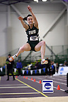 11 MAR 2011: Lauren Alpert of Illinois Wesleyan long jumps during the Division III Men's and Women's Indoor Track and Field Championships held at the Capital Center Fieldhouse on the Capital University campus in Columbus, OH.  Jay LaPrete/NCAA Photos