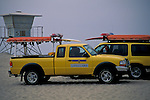 Lifeguard truck on Beach+San Diego, San Diego County, CALIFORNIA