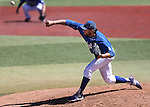 Wildcats' Max Karnos pitches against College of Southern Nevada during a game at Western Nevada College in Carson City, Nev., on Thursday, March 26, 2015. <br /> Photo by Cathleen Allison/Nevada Photo Source