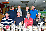 South African Golf tour enjoying a night at the dogs at the Kingdom Greyhound Stadium on Friday front l-r Mark Dewar, Dave Deserlay, Colm McLoughlin, Rod Humphris, Back l-r Graham Truslow, steven Intersevik, Marc Versaputt, Dave Stewart