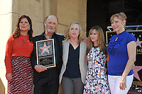 Actor Ed Harris with Marcia Gay Harden, Amy Madigan, Holly Hunter &amp; Glenne Headly on Hollywood Boulevard where he was honored with the 2,546th star on the Hollywood Walk of Fame.<br /> March 13, 2015  Los Angeles, CA<br /> Picture: Paul Smith / Featureflash