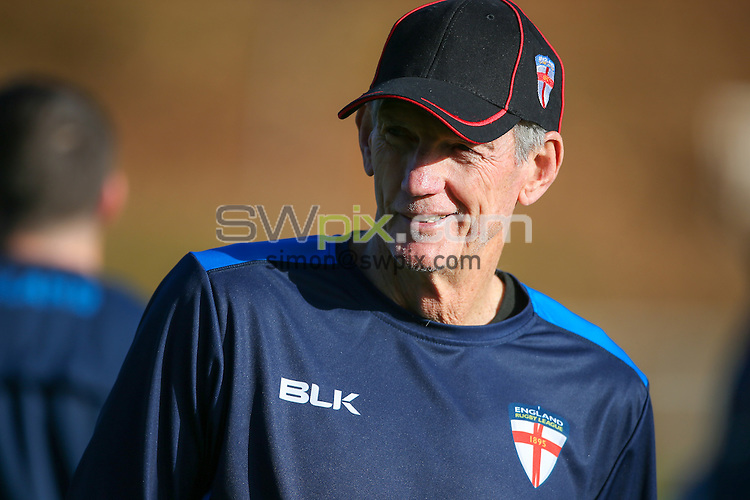 Picture by Alex Whitehead/SWpix.com - 04/11/16 - Rugby League - 2016 Ladbrokes Four Nations - England RL Training - University of Birmingham, Birmingham, England - England head coach Wayne Bennett.