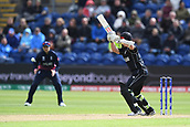 Jun 6th, The SSE SWALEC, Cardiff, Wales; ICC Champions Trophy; England versus New Zealand; Kane Williamson of New Zealand cuts a ball wide of slip