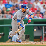 15 June 2016: Chicago Cubs second baseman Ben Zobrist in action during a game against the Washington Nationals at Nationals Park in Washington, DC. The Cubs fell to the Nationals 5-4 in 12 innings in the rubber match of their 3-game series. Mandatory Credit: Ed Wolfstein Photo *** RAW (NEF) Image File Available ***