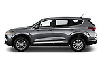 Car Driver side profile view of a 2020 Hyundai Santa-FE SE 5 Door SUV Side View