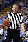 24 January 2015: Referee Terry Wymer. The University of North Carolina Tar Heels played the Florida State University Seminoles in an NCAA Division I Men's basketball game at the Dean E. Smith Center in Chapel Hill, North Carolina. UNC won the game 78-74.