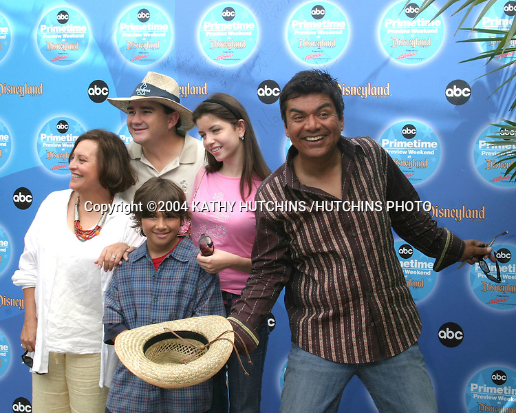 ©2004 KATHY HUTCHINS /HUTCHINS PHOTO.ABC PRIMETIME PREVIEW WEEKEND 2004.ANAHEIM, CA.SEPTEMBER 11, 2004..BELITA MORENO.VALENTE RODRIGUEZ.LUIS ARMAND GARCIA.MASIELA LUSHA.GEORGE LOPEZ.