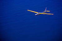 Glider over the ocean at Mokuleia, north shore of Oahu