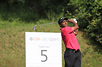 S.S.P. Chawrasia (IND) on the 5th tee during Round 4 of the UBS Hong Kong Open, at Hong Kong golf club, Fanling, Hong Kong. 26/11/2017<br /> Picture: Golffile | Thos Caffrey<br /> <br /> <br /> All photo usage must carry mandatory copyright credit     (&copy; Golffile | Thos Caffrey)