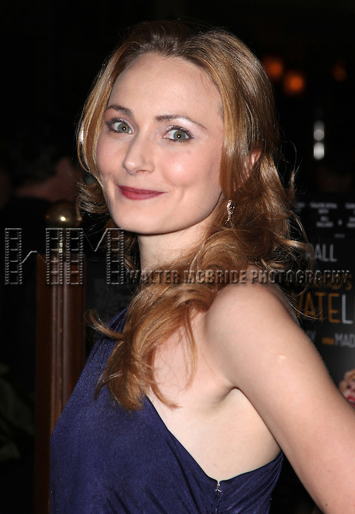 Anna Madeley.attending the Opening Night Performance after party for 'Private Lives' at Bond 45 in New York City on 11/17/2011.