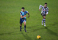 Luke O'Nien of Wycombe Wanderers & Jordan Richards of Notts Co during the Sky Bet League 2 match between Notts County and Wycombe Wanderers at Meadow Lane, Nottingham, England on 10 December 2016. Photo by Andy Rowland.