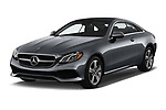 2018 Mercedes Benz E-Class E400 2 Door Coupe angular front stock photos of front three quarter view