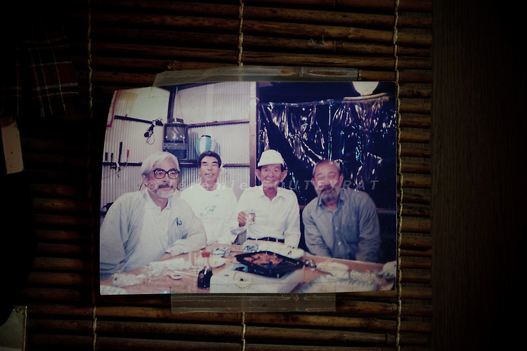 Yakushima, June 2011 - A picture with Miyazaki and his team taken in yakushima at Suimeiso hotel in Anbo city, where Miyazaki and his team stayed several times between1995 and 1998.