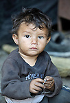 Two-year old Kamber Musliu lives in Suto Orizari, Macedonia. The mostly Roma community, located just outside Skopje, is Europe's largest Roma settlement. .