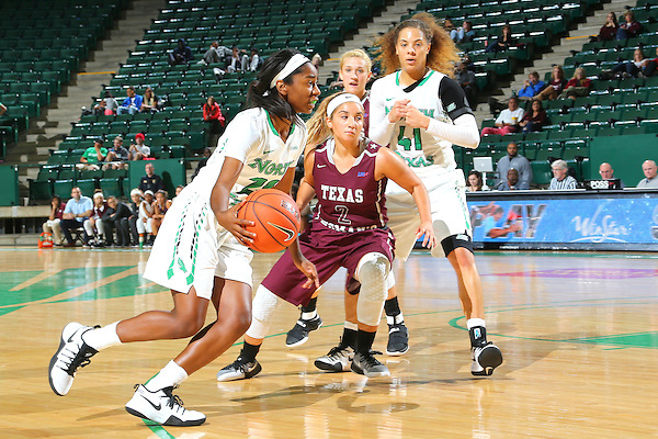 NOVEMBER 6: Mean Green Women's Basketball v Texas Woman's University at Super Pit -  UNT Coliseum in Denton on November 6, 2016 in Denton Texas. (Photo Rick Yeatts)