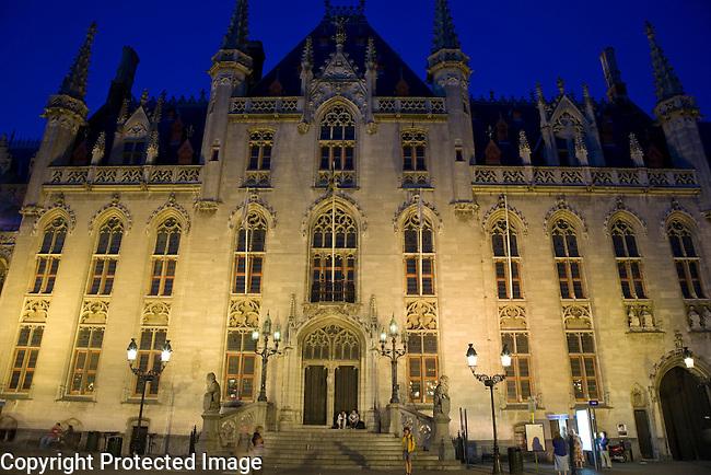 Provincial Palace, Markt Place - Market Square, Bruges, Belgium, Europe