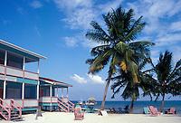 Beachfront hotel on Caye Caulker, Belize