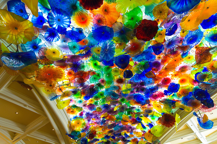 Flori di Como, chandelier by Dale Chihuly, Bellagio Resort & Casino, Las Vegas, Nevada USA