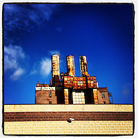 The sun shines on the old Willow Steam Plant at 9th and Callowhill in Philadelphia, December 27, 2012.