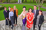 INAUGURAL GALA BALL: Mayor of Tralee Grace O'Donnell launching the Mayor of Tralee Inaugural Ball in aid of Kare for Kidz Charity, the Friends of Leukaemia Patients Cork and the Irish Rugby Football Union Charitable Trust to held at the Ballygarry House hotel on Saturday 7th of April front l-r: Norma O'Donoghue, Mayor of Tralee Grace O'Donnell Thys Vogels (general manager, Ballygarry House hotel) and Cllr Gillian Wharton-Slattery). Back l-r: Gemma Knightly, Aoife Lynch, Emma Houlihan and Sharon O'Keeffe...