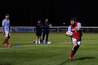 Jordan Brodley of London Scottish during the Championship Cup match between London Scottish Football Club and Yorkshire Carnegie at Richmond Athletic Ground, Richmond, United Kingdom on 4 October 2019. Photo by Carlton Myrie / PRiME Media Images
