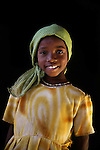 Girl in Sudanese refugee camp in Chad