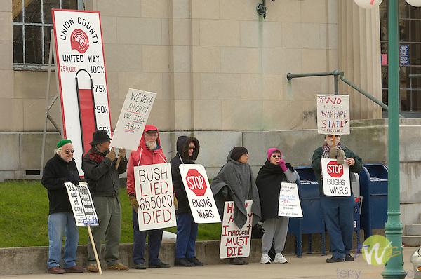 protestors, demonstrators, Bush Administration and Iraq War