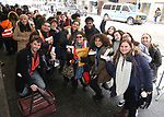 """Students attend The Rockefeller Foundation and The Gilder Lehrman Institute of American History sponsored High School student #EduHam matinee performance of """"Hamilton"""" at the Richard Rodgers Theatre on 3/15/2017 in New York City."""