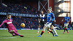 02.02.2019 Rangers v St Mirren: Ryan Kent scores goal no 4 for Rangers