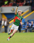 Keelan Sexton of  Kilmurry Ibrickane celebrates a point during their senior football final replay win over Cratloe at Cusack park. Photograph by John Kelly.