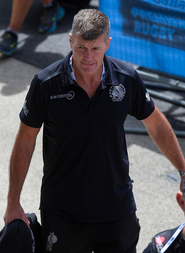 Exeter Chiefs' Head Coach Rob Baxter arrives at the ground<br /> <br /> Photographer Bob Bradford/CameraSport<br /> <br /> Gallagher Premiership Final - Exeter Chiefs v Saracens - Saturday 1st June  2018 - Twickenham Stadium - London<br /> <br /> World Copyright © 2019 CameraSport. All rights reserved. 43 Linden Ave. Countesthorpe. Leicester. England. LE8 5PG - Tel: +44 (0) 116 277 4147 - admin@camerasport.com - www.camerasport.com