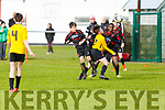 Aerial action from St Brendan's Park against  Aisling Annacotty as Park FC's Jack Slattery and Mohammed Abdullah puts pressure on Cathal Downes in the U13 National Cup in Christy Healy Park on Saturday