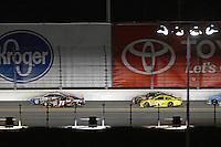 12-13 February, 2016, Daytona Beach, Florida, USA<br /> Denny Hamlin, FedEx Express Toyota Camry races Brad Keselowski for the lead as teammate Matt Kenseth, Dollar General Toyota Camry follows.<br /> ©2016, F. Peirce Williams