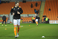 Blackpool's Matty Virtue during the pre-match warm-up <br /> <br /> Photographer Kevin Barnes/CameraSport<br /> <br /> Emirates FA Cup Third Round Replay - Blackpool v Reading - Tuesday 14th January 2020 - Bloomfield Road - Blackpool<br />  <br /> World Copyright © 2020 CameraSport. All rights reserved. 43 Linden Ave. Countesthorpe. Leicester. England. LE8 5PG - Tel: +44 (0) 116 277 4147 - admin@camerasport.com - www.camerasport.com
