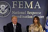 United States President Donald J. Trump and First Lady Melania Trump attend the 2018 Hurricane Briefing at the FEMA headquarters on June 6, 2018 in Washington, DC. <br /> <br /> CAP/MPI/RS<br /> &copy;RS/MPI/Capital Pictures