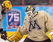 ?, Ryan Coyne (MN - 31) - The University of Minnesota Golden Gophers practiced on Wednesday, April 9, 2014, at the Wells Fargo Center during the 2014 Frozen Four in Philadelphia, Pennsylvania.