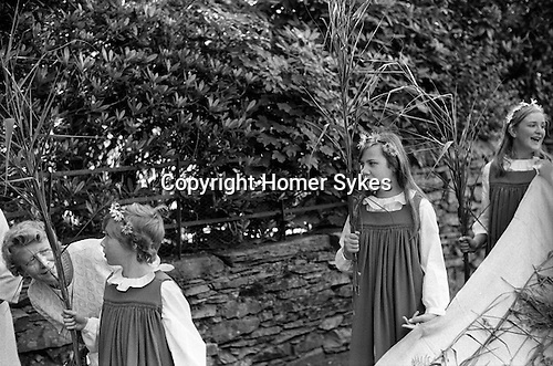 Rushbearing annual ceremony,    Grasmere, Cumbria The Lake District 1974