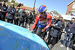 Dylan Groenewegen (NED) Team Lotto NL-Jumbo at sign on before the start of Stage 1 of the Tour de Yorkshire 2017 running 174km from Bridlington to Scarborough, England. 28th April 2017. <br /> Picture: ASO/P.Ballet | Cyclefile<br /> <br /> <br /> All photos usage must carry mandatory copyright credit (&copy; Cyclefile | ASO/P.Ballet)