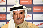 H.E. Saeed Hareb at the top riders press conference for the Dubai Tour 2018 the Dubai Tour&rsquo;s 5th edition held at Dubai Frame in Zabeel Park, Dubai, United Arab Emirates. 5th February 2018.<br /> Picture: LaPresse/Massimo Paolone | Cyclefile<br /> <br /> <br /> All photos usage must carry mandatory copyright credit (&copy; Cyclefile | LaPresse/Massimo Paolone)
