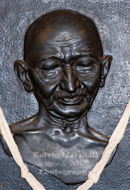 A memorial dedicated to the Father of the Nation, Mahatma Gandhi.